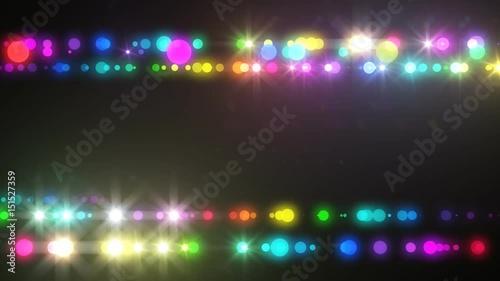 Neon LED dot line.