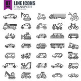Simple set of transport line icons