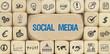 Social Media / Würfel mit Symbole - 151549928