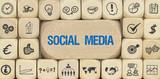 Social Media / Würfel mit Symbole