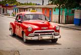 Vintage Car on a Street in Havana Cuba