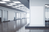 Contemporary office with empty poster