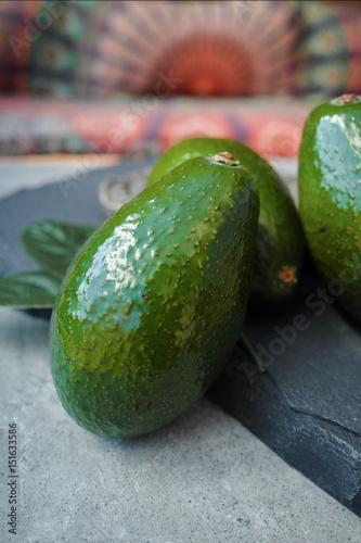 Plakat Green ripe avocados ready to eat