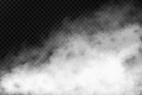 Vector realistic isolated smoke effect on the transparent background. Realistic fog or cloud for decoration. - 151637985
