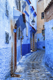 CHEFCHAOUEN, MOROCCO - FEBRUARY 19, 2017: The beautiful blue medina of Chefchaouen in Morocco