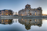 The Reichstag at the river Spree in Berlin at dusk - 151691980