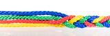 Panorama, bunte Seile verbinden sich, Kooperation und Verknüpfung - 151695302