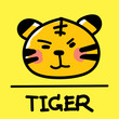 tiger hand-drawn style,Vector illustration. - 151704943