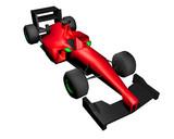 3D rendering racing car