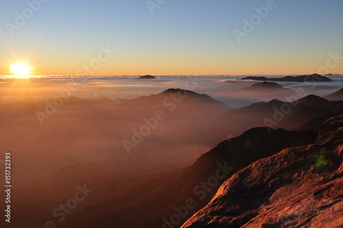 Sunrise on Mt. Sinai Poster