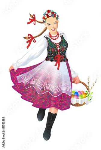 Krakowiak Folk Dancer