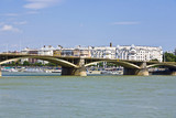 Margrit hid Bridge in Budapest on the Danube River