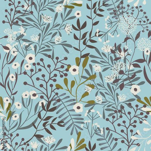 Vintage Floral Seamless Pattern - 151843716