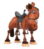3d illustration beautiful Bay horse - 151848519