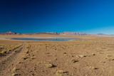 Laguna Collpa lake on bolivian Altiplano