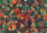 Flat triangle retro color geometric background