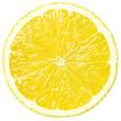 Quadro Juicy yellow slice of lemon, clipping path, white background, isolated