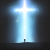 Man and cross
