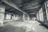 Abandoned old factory building