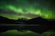 Green lights above the glacier