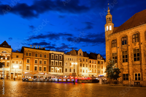 Fototapeta Old Town of Torun by Night