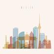 Berlin Germany skyline silhouette poster.