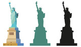 Statue of Liberty in color and black © alinart