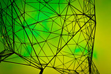geometry design green abstract background Sci-fi texture - 152011535