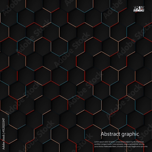Fotobehang Abstractie Graphic illustration with geometric pattern. Eps10 Vector illustration.