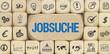 Jobsuche / Würfel mit Symbole