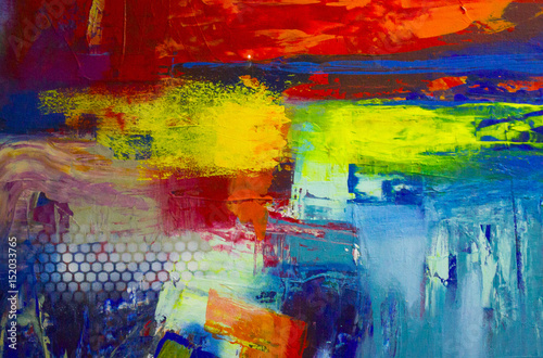 Abstract oil painting background Poster