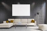 White living room, front