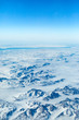 View of a Frozen Landscape from an Airplane