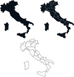 Italy map collection