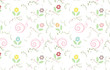 vector floral wallpaper with soft color  - 152111906