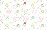 vector floral wallpaper with soft color
