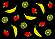 Colorful fruits on a black background - 152118548