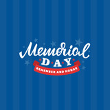 Memorial day card. American national holiday. Vector lettering illustration. - 152125909