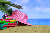 Summer sandy beach - copy space