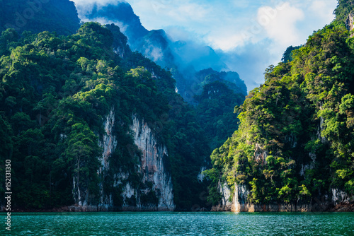 Magical landscape with limestone mountain