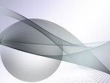 Technology abstract curved lines background