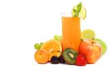 Summer mixed fruit juice