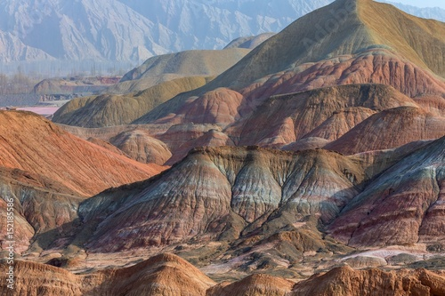 Papiers peints Cappuccino Large colorful mountains in China