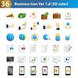 36 Business icon 3D color