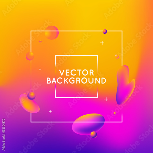 Vector design template and illustration in trendy bright gradient colors - 152304370