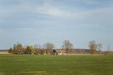 A beautiful spring landscape in a sunny day in Northern Europe