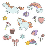 Set of unicorn - 152310909