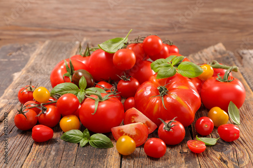 assorted colorful tomato