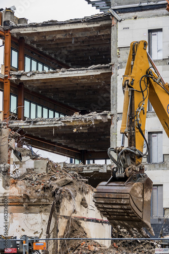 Poster demolition of an office building