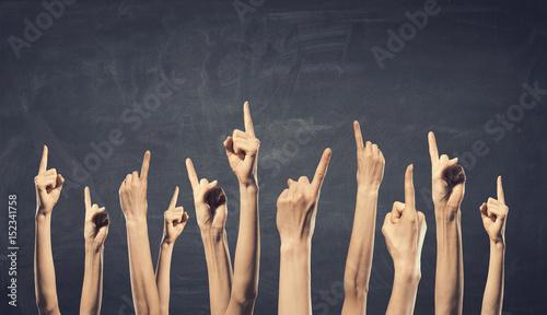 Hands showing gestures